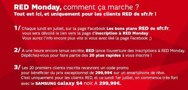 forfait RED Samsung Galaxy S4