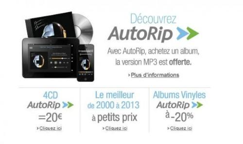 Amazon AutoRip en France