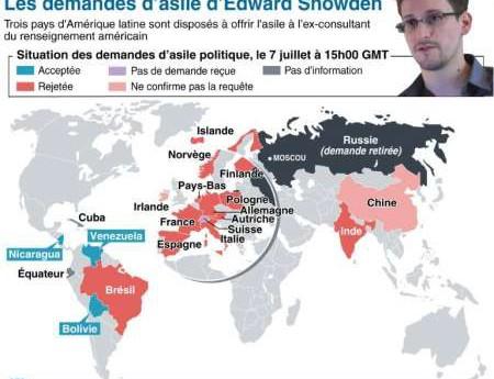 Demande d'asile'Edward Snowden