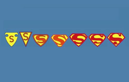Evolution Logo Superman