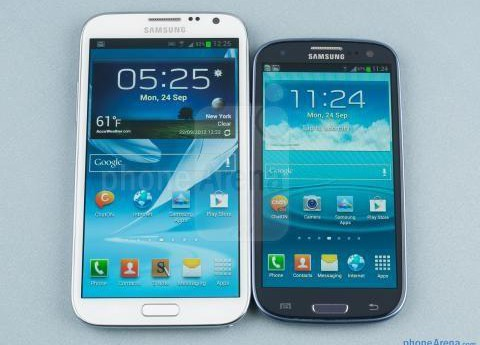 Galaxy Note III VS Galaxy S4