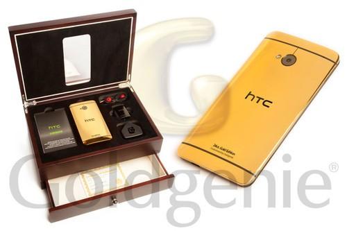 HTC One face arriere en or