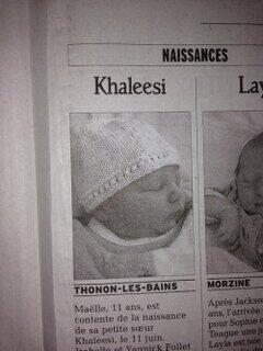 Khaleesi venue au monde