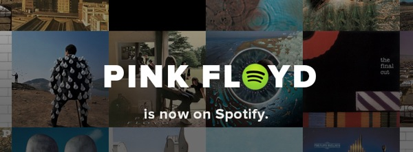 Pink Floyd is now on Spotify