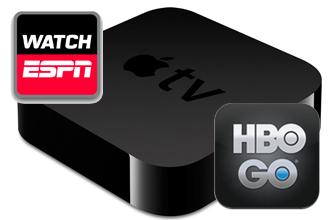 espn hbogo Apple TV