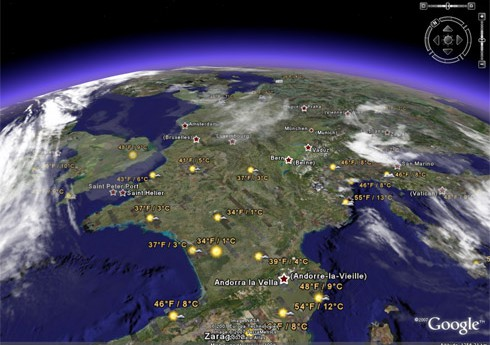 google earth meteo