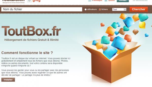 hebergement fichiers gratuit ToutBox