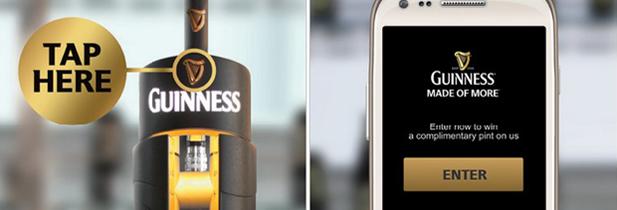 guiness vous offre une biere si vous possedez un smartphone nfc
